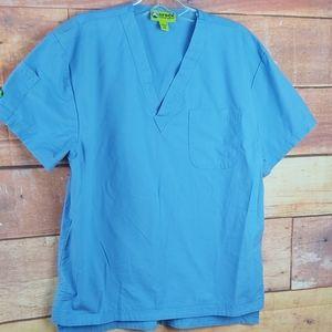 Crocs scrub top short sleeves shirt size medium